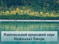 Національний природний парк Подільські Товтри