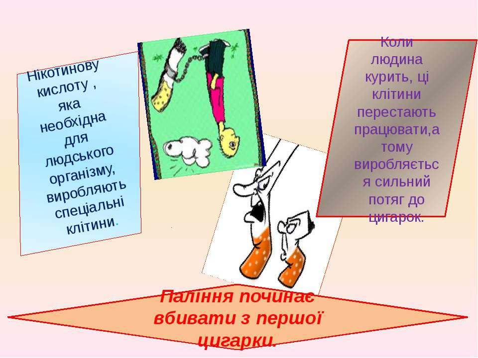 Паління починає вбивати з першої цигарки. Нікотинову кислоту , яка необхідна ...