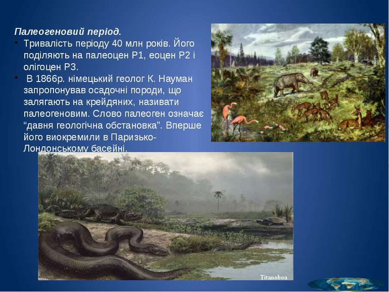Палеоценова епоха (65-56 млн років тому) загалом була теплою та воло гою. На ...