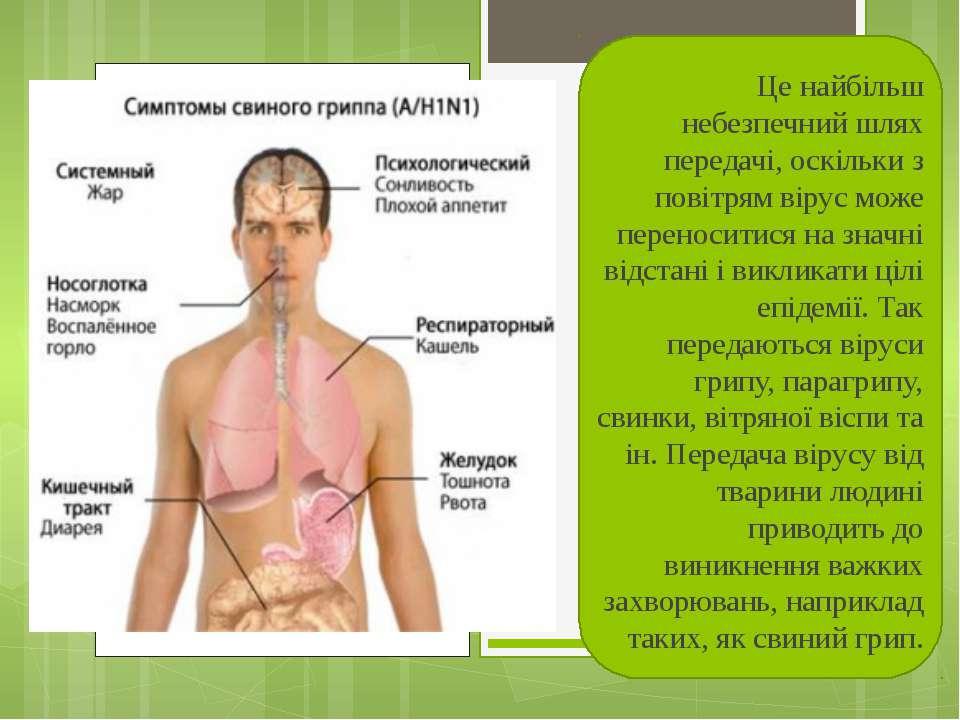 Це найбільш небезпечний шлях передачі, оскільки з повітрям вірус може перенос...
