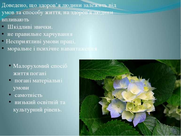 Доведено, що здоров'я людини залежить від умов та способу життя, на здоров'я ...