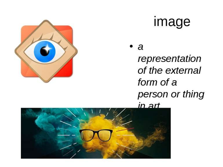 image a representation of the external form of a person or thing in art