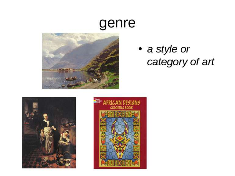 genre a style or category of art