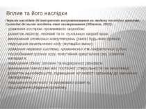 Вплив та його наслідки Перелік наслідків дії іонізуючого випромінювання на лю...