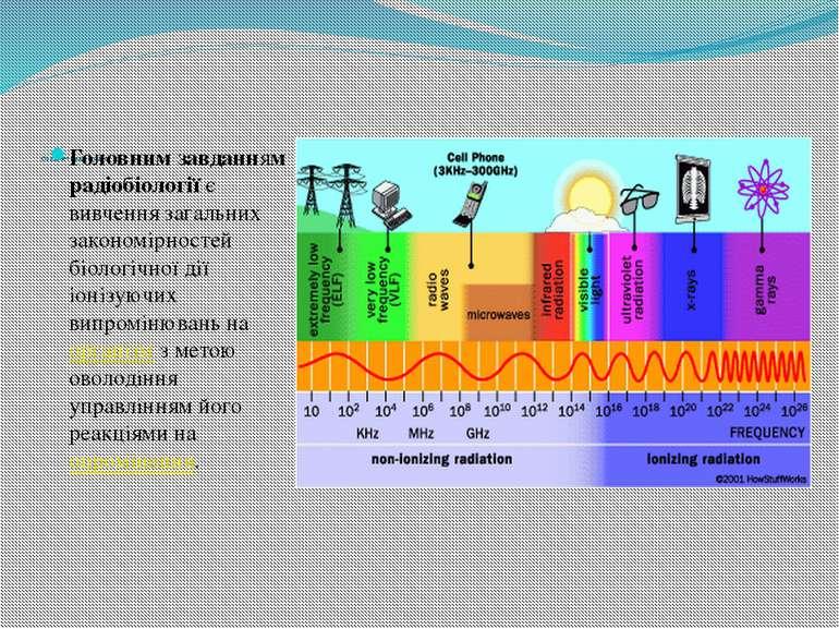 Предмет радіобіології Головним завданням радіобіологіїє вивчення загальних з...