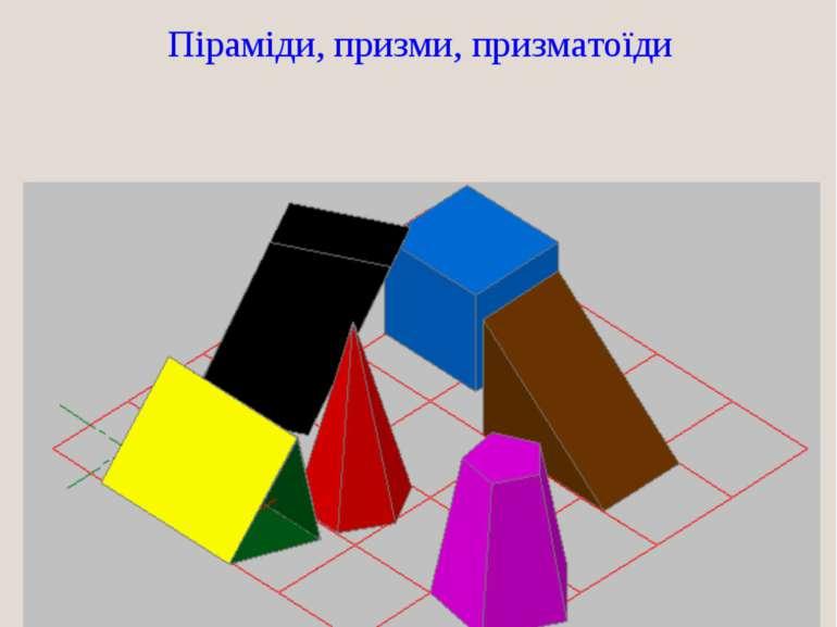 ВИДИ БАГАТОГРАННИКІВ Піраміди, призми, призматоїди
