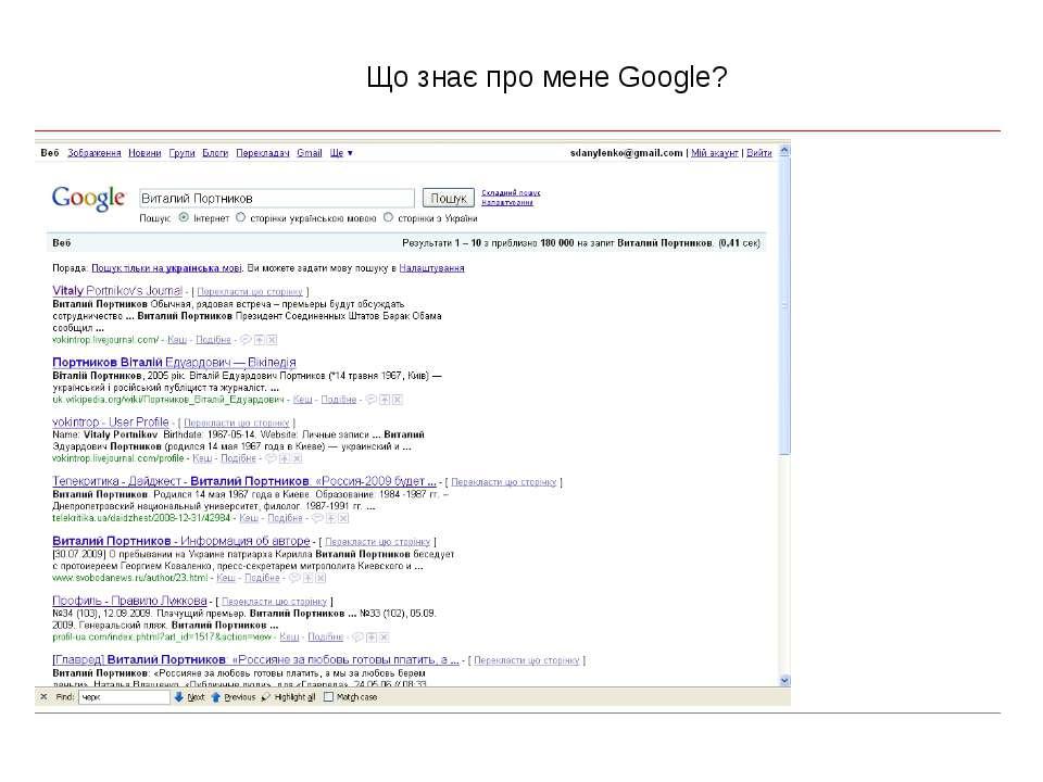 Що знає про мене Google?
