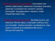 Демонстраційні програми, підготовлені для наочної демонстрації навчального ма...