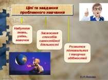 О.Л.Попова Набуття знань, умінь, навичок Засвоєння способів самостійної діяль...
