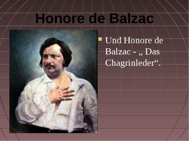 "Honore de Balzac Und Honore de Balzac - "" Das Chagrinleder""."