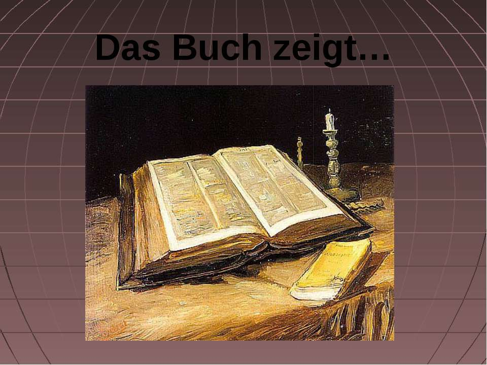 Das Buch zeigt…