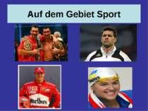 Auf dem Gebiet Sport