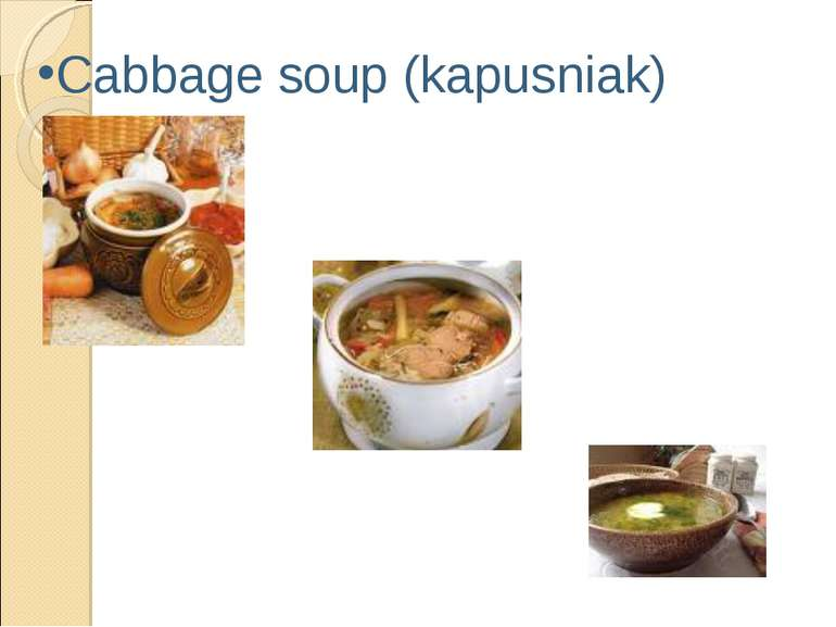 Cabbage soup (kapusniak)