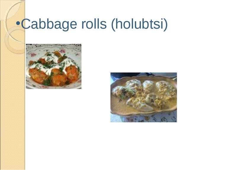 Cabbage rolls (holubtsi)