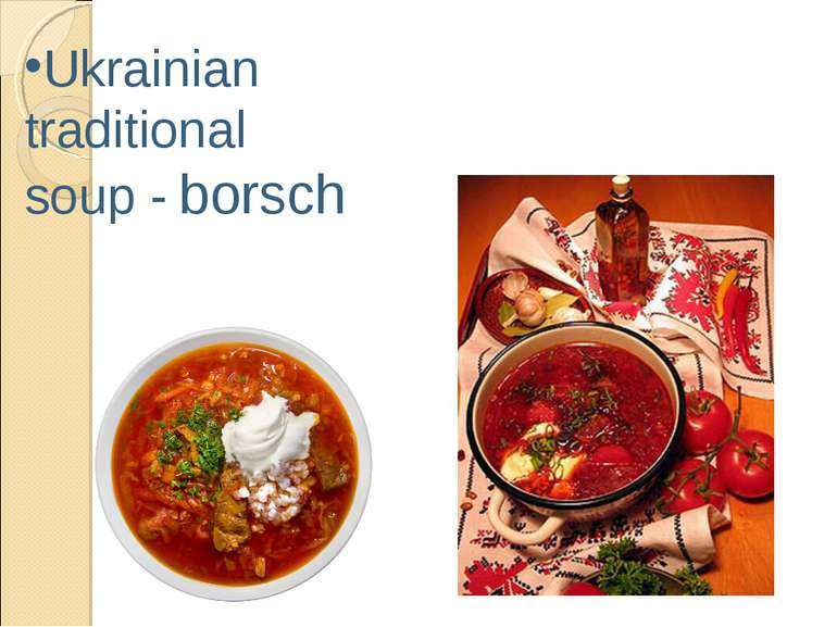 Ukrainian traditional soup - borsch