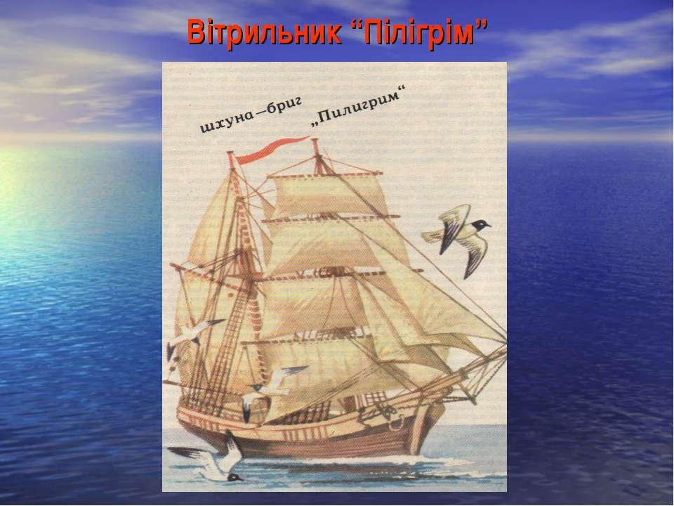 """Вітрильник """"Пілігрім"""""""