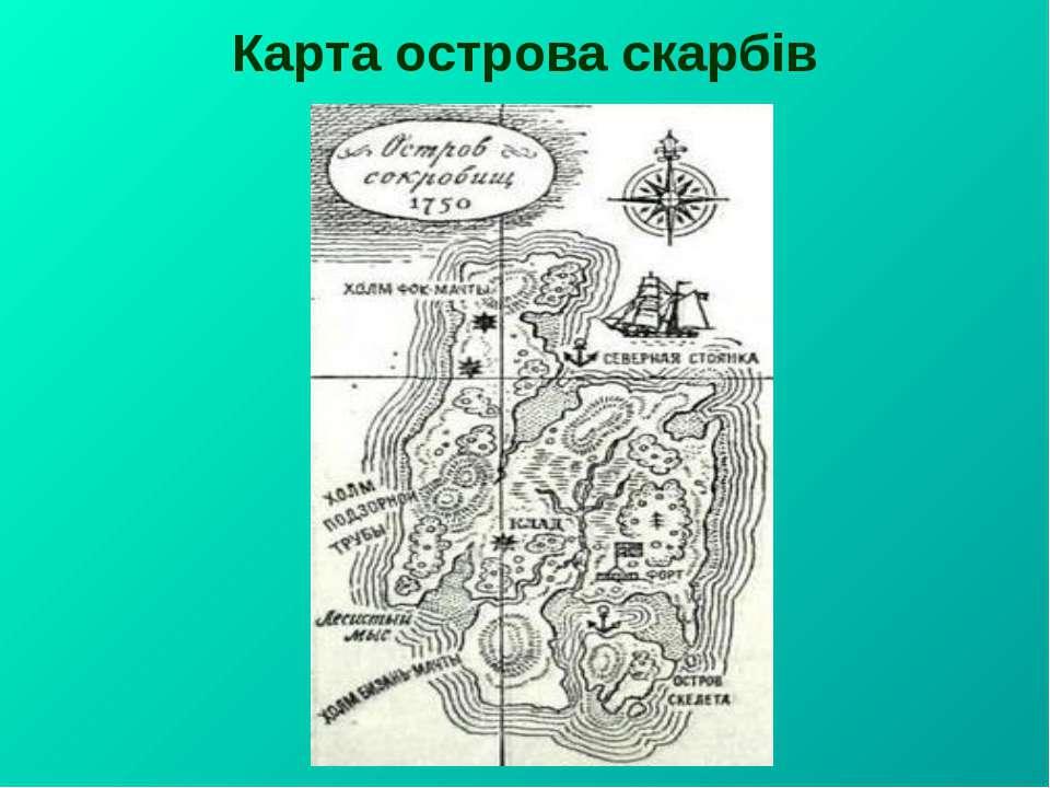 Карта острова скарбів