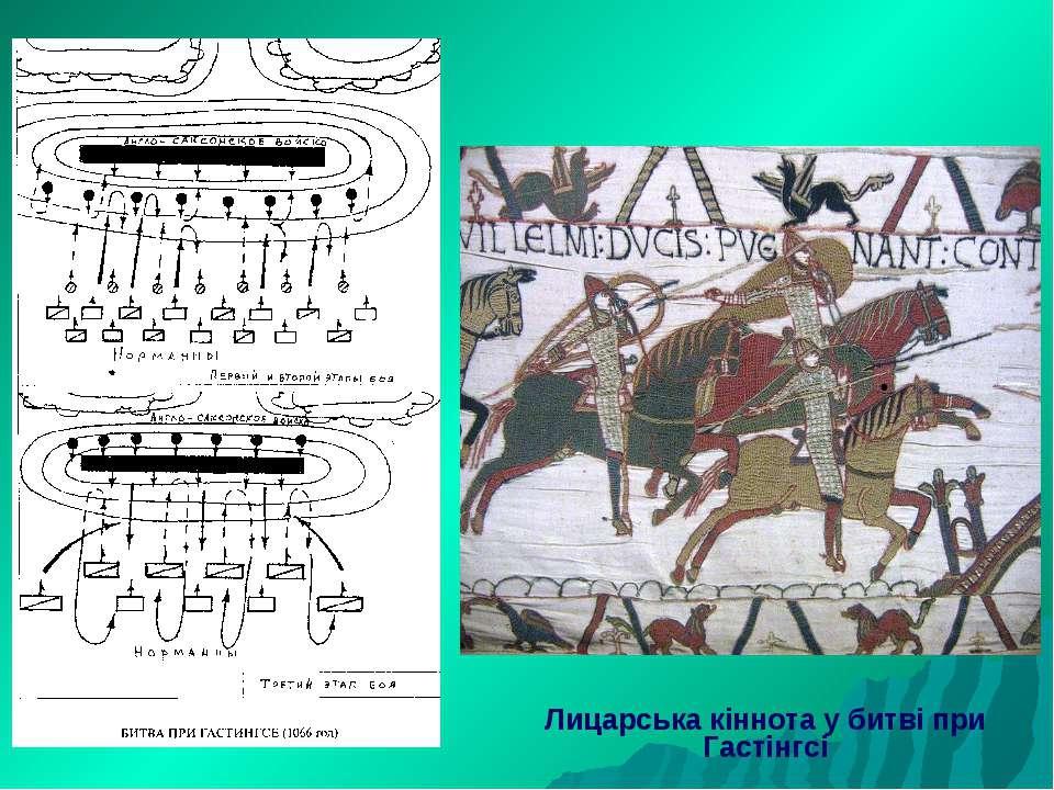 Лицарська кіннота у битві при Гастінгсі