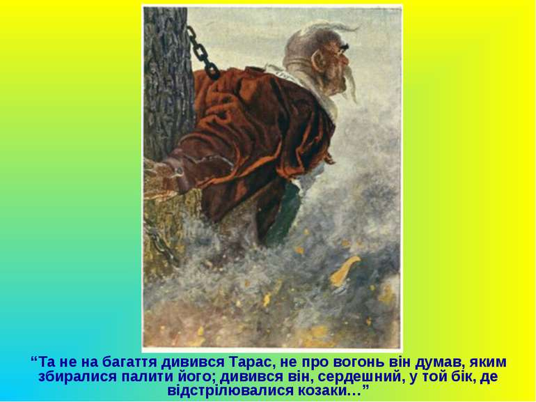 """""""Та не на багаття дивився Тарас, не про вогонь він думав, яким збиралися пали..."""