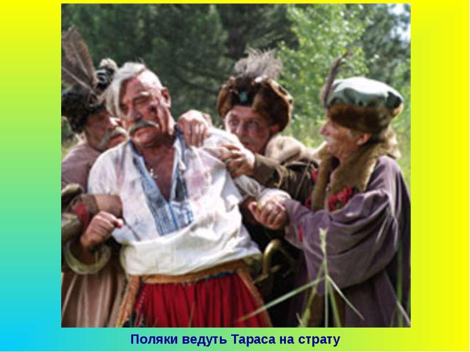 Поляки ведуть Тараса на страту