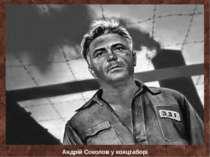 Андрій Соколов у концтаборі