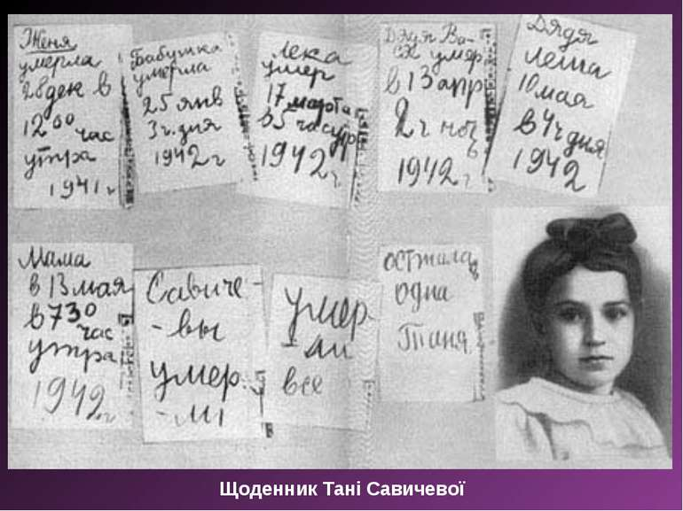 Щоденник Тані Савичевої