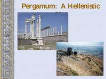 Pergamum: A Hellenistic City