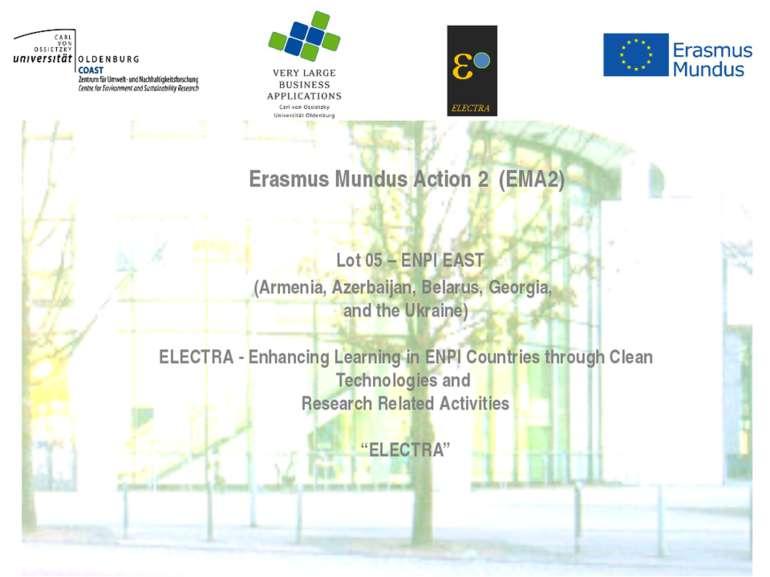 Lot 05 – ENPI EAST (Armenia, Azerbaijan, Belarus, Georgia, and the Ukraine) &...