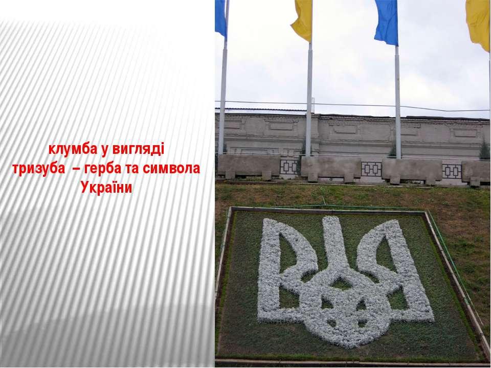 клумба у вигляді тризуба – герба та символа України