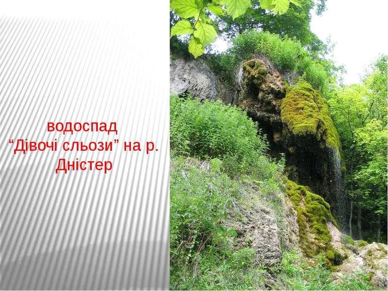 """водоспад """"Дівочі сльози"""" на р. Дністер"""