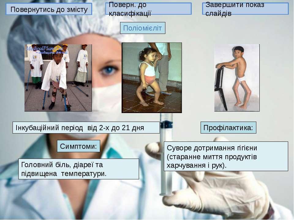 Повернутись до змісту Поверн. до класифікації Завершити показ слайдів ВІЛ-інф...
