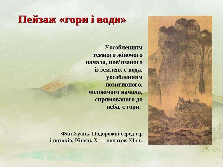 Пейзаж «гори і води» Фан Хуань. Подорожні серед гір і потоків. Кінець X — поч...