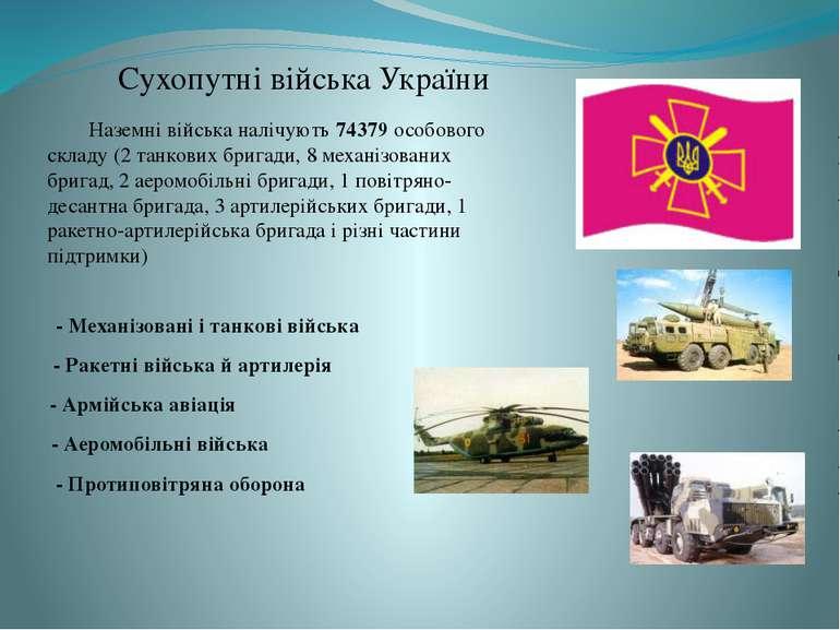 Сухопутні війська України - Механізовані і танкові війська - Аеромобільні вій...