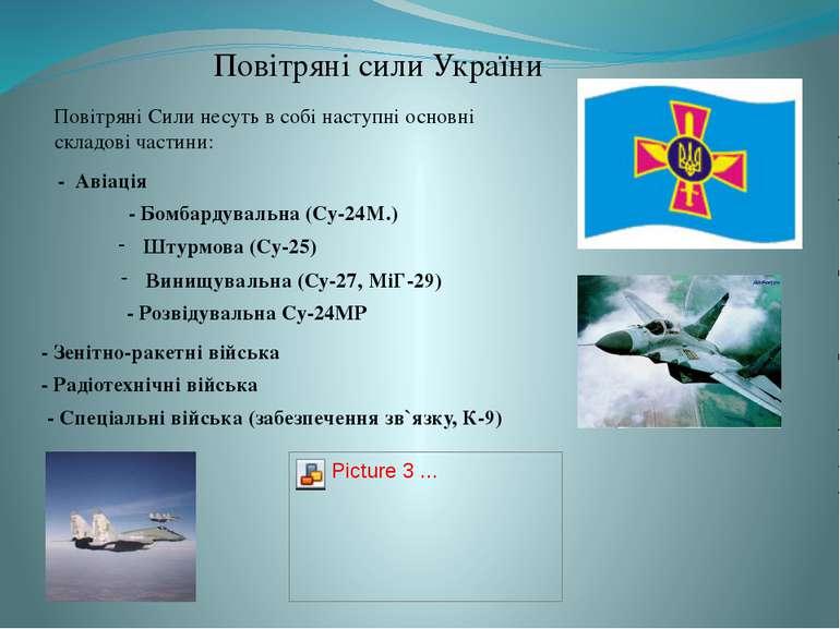 Повітряні сили України - Авіація Винищувальна (Су-27, МіГ-29) - Бомбардувальн...