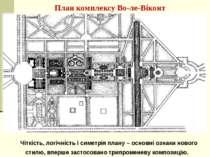 План комплексу Во-ле-Віконт Чіткість, логічність і симетрія плану – основні о...