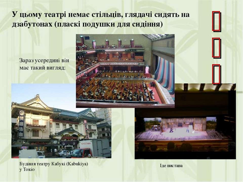 Будівля театру Кабукі (Kabukiya) у Токіо Зараз усередині він має такий вигляд...