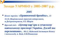 2005 Бізнес-тренінг «Практичний брендінг», 15-16.10, Національний гірничий ун...