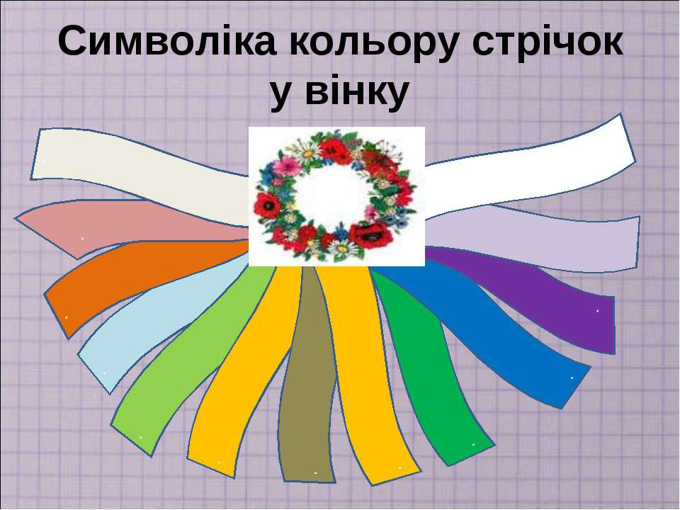 Символіка кольору стрічок у вінку . . . . . . . . . . . . .