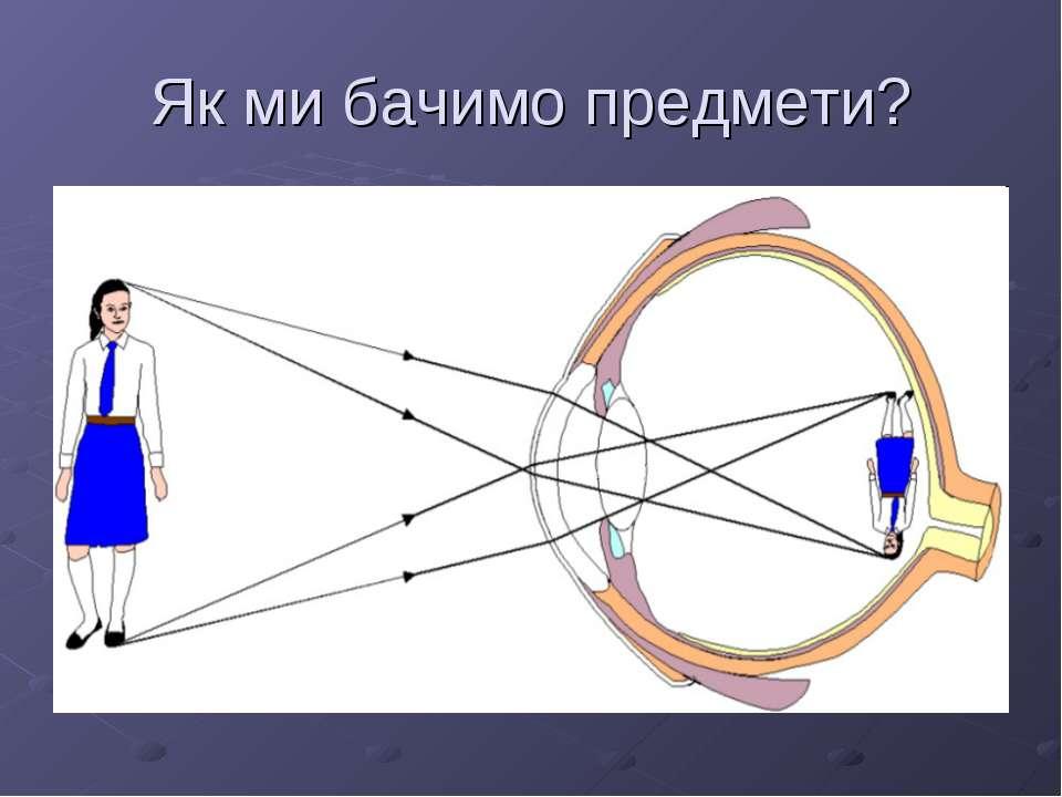 Як ми бачимо предмети?