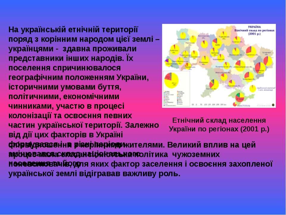 На українській етнічній території поряд з корінним народом цієї землі – украї...