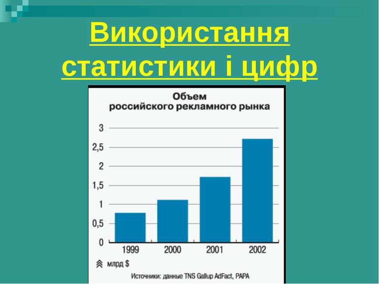 Використання статистики і цифр