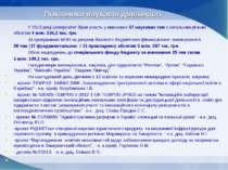 Показники наукової діяльності У 2013 році університет брав участь у виконанні...