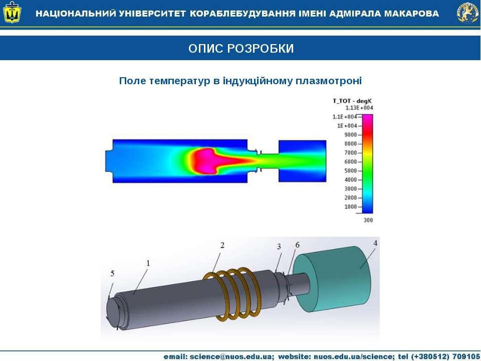 ОПИС РОЗРОБКИ Поле температур в індукційному плазмотроні