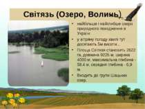 Світязь (Озеро, Волинь) найбільше і найглибше озеро природного походження в У...