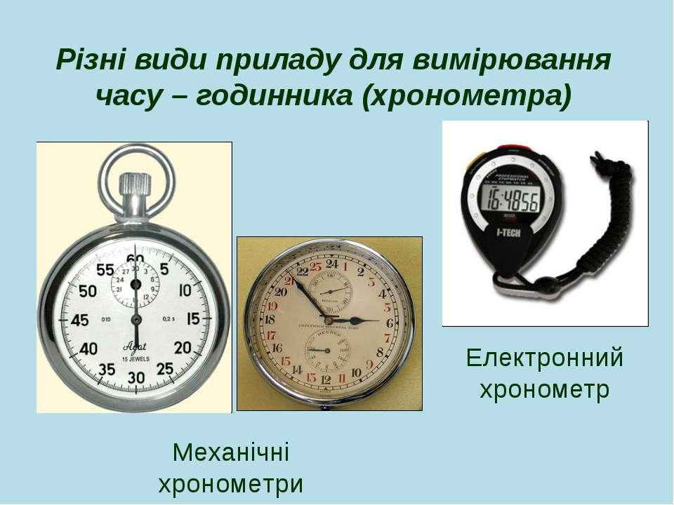 Різні види приладу для вимірювання часу – годинника (хронометра) Електронний ...