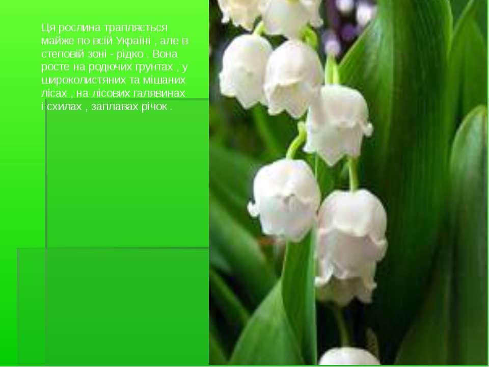 Ця рослина трапляється майже по всій Україні , але в степовій зоні - рідко . ...