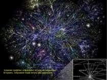 Зразкове графічне зображення зв'язків між мережами Інтернету. Зображені тільк...