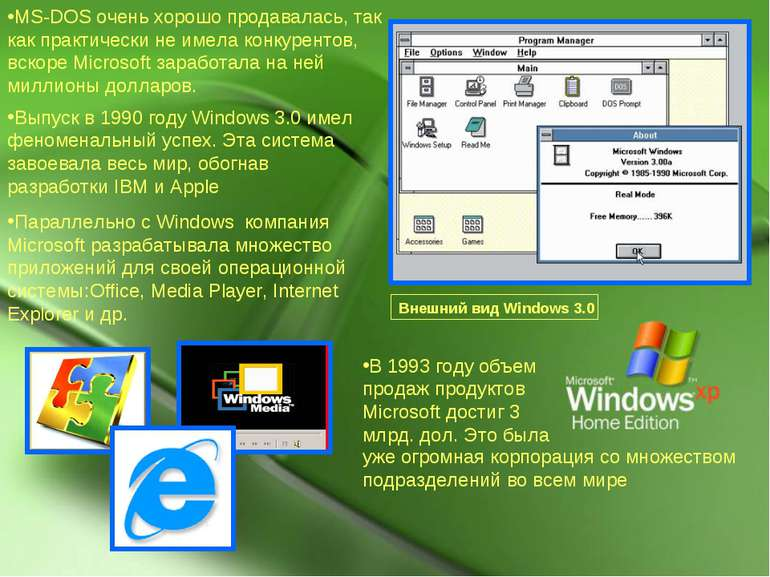 MS-DOS очень хорошо продавалась, так как практически не имела конкурентов, вс...