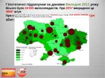 Гіпотетичні підрахунки за даними Велодня 2011 року Всього було 24 000 велосип...