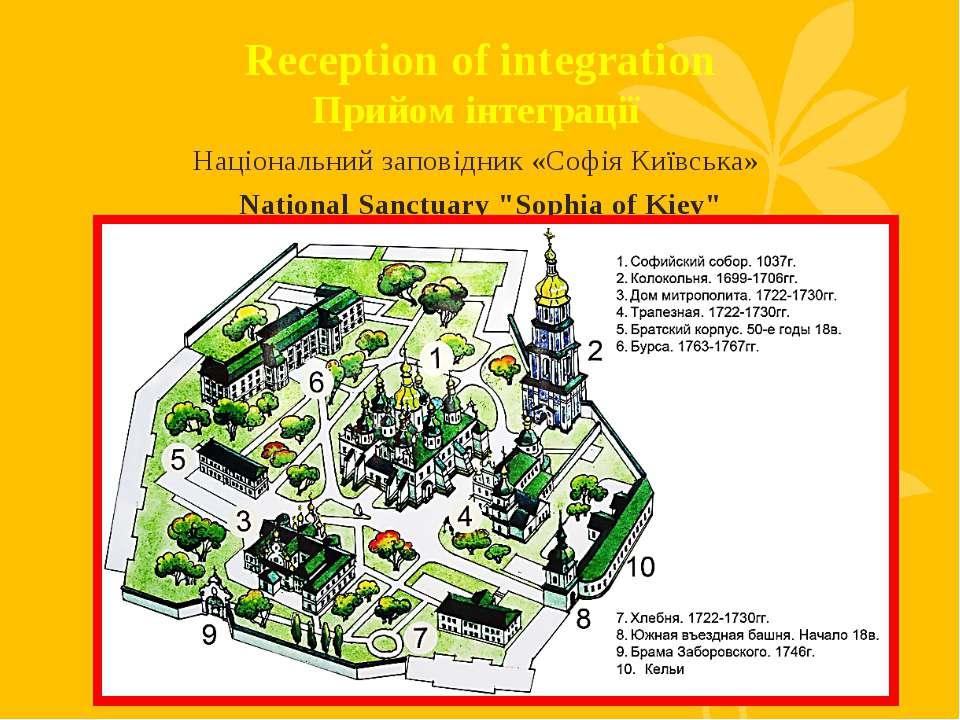 Reception of integration Прийом інтеграції Національний заповідник «Софія Киї...